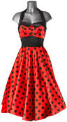 HELL BUNNY 50s VERA Red DRESS Polka Dot Emo  Thumbnail 2